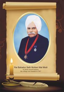 LATE SH. R B SETH MULTANI MAL MODI