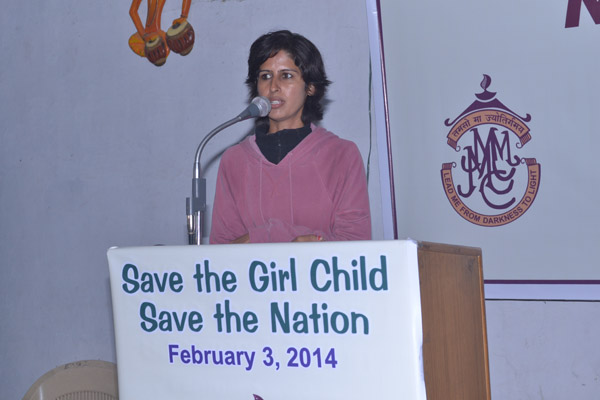 Ms. Sukh Brar, a social activist, who is on a mission to help thalassemia victims also addressed the students.