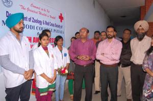 Health Awareness Camp organised at M.M.Modi College