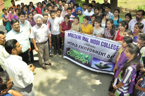 WORLD ENVIRONMENT DAY observed at M M Modi College, Patiala
