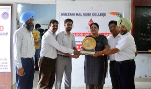 Blood Donation Camp organised at M M Modi College, Patiala