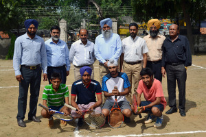 Punjabi University Inter College Lawn Tennis Tournament begins at Multani Mal Modi College