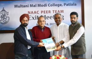 M. M. Modi College accredited by the NAAC with 'A' Grade
