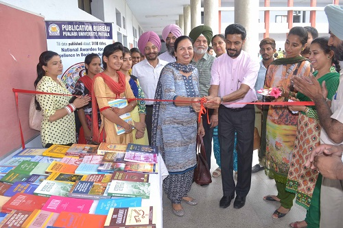 Dr. Dhanwant Kaur and Principal Dr. Khushvinder Kumar inaugurating the Book Exhibition