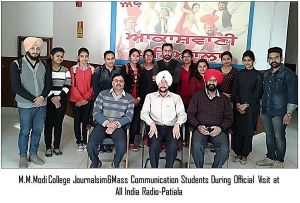 "Modi College Journalism Students Explored ""All India Radio"""