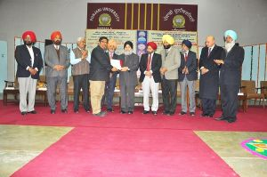 College NSS Programme Officers awarded Best NSS Programme Officers by Punjabi University, Patiala