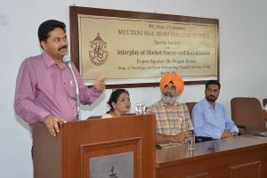 Extension Lecture by Dr. Deepak Kumar on 'Interplay of Market Forces and Social Issues'
