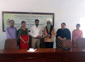 "M M Modi College, Patiala organizes an Expert Lecture on ""How Green are your Green Vegetables?"""