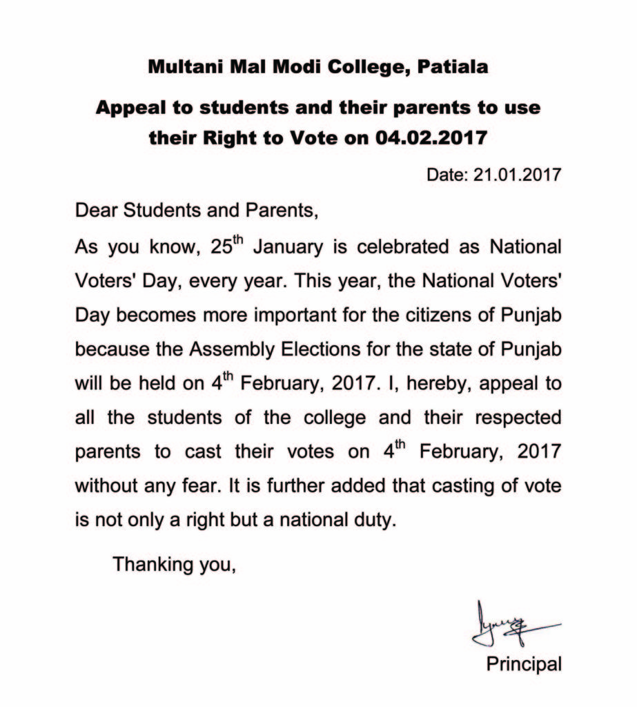VoterDay Appeal In English