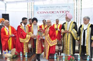 Golden Jubilee Year Convocation – 2017 held at Multani Mal Modi College, Patiala