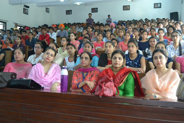 New students attending the Orientation Programme at M M Modi College, Patiala