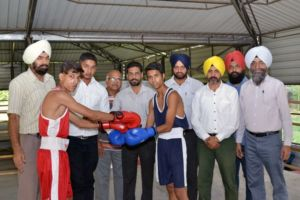 Punjabi University Inter-college Boxing (Men) Championship inaugurated at Multani Mal Modi College Patiala