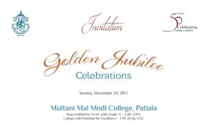 Golden Jubilee Celebration Function