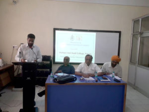 A discussion on New Education Policy Draft was organized by Multani Mal Modi College
