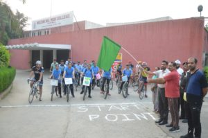 Cycle Rally on Pollution Control by NCC Girls Wing Multani Mal Modi College, Patiala