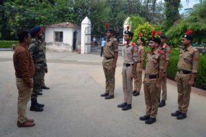 On NCC Enrolment Day Col. Navjot Singh Kang visited Modi College