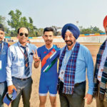 Multani Mal Modi College student Naman Kapil won Gold Medal in Individual Pursuit Event in Under-21 4000 meter Cycling in Khelo India Games held at Guwahati, Assam
