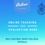 On-line teaching and evaluation done