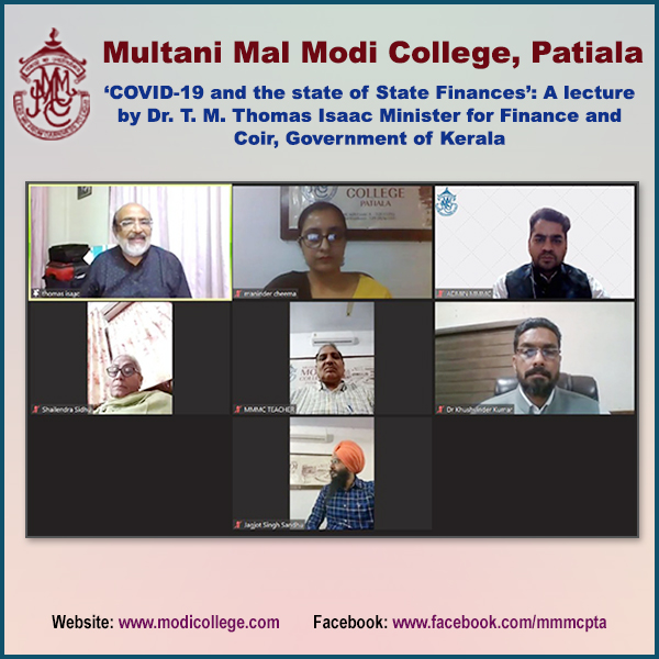 Finance Minister Lecture