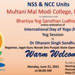 Formation of Rotaract Club, tree plantation drive and International Yoga day at Modi College
